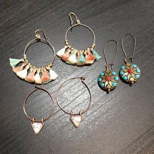 Earring bundle! 3 pairs- like new!